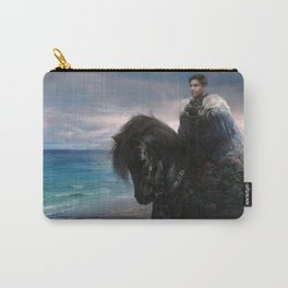 Hiraeth - Knight on Friesian black horse Carry-All Pouch
