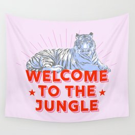 welcome to the jungle - retro tiger Wall Tapestry