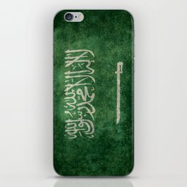 Flag of  Kingdom of Saudi Arabia - Vintage version iPhone Skin