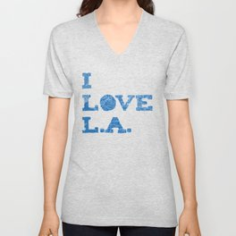 Los Angeles Street Map Unisex V-Neck