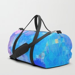 Abstract Candy Glitch - Pink, Blue and Ultra violet #abstractart #glitch Duffle Bag