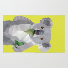 Koala with Koalafication Polygon Art Rug