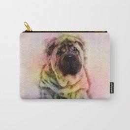 Shar-Pei puppy Sketch Digital Art Carry-All Pouch