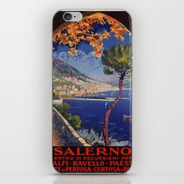 Salerno Italy vintage summer travel ad iPhone Skin