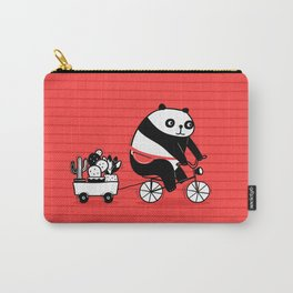 Cacti delivery. Panda on bicycle. Carry-All Pouch