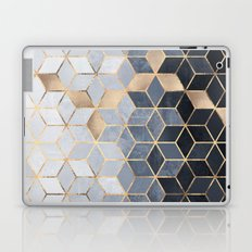 Soft Blue Gradient Cubes Laptop & iPad Skin