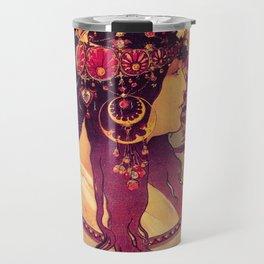 Alphonse Mucha, Art Nouveau Travel Mug
