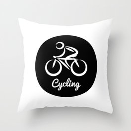 Cycling Throw Pillow