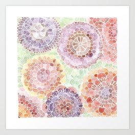 Dahlia's Lace Art Print