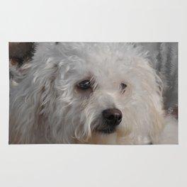 White Puppy Rug