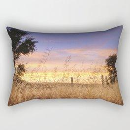 Evening Glow a country sunset Rectangular Pillow