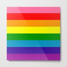Rainbow Flag (Original Gay Pride Flag Colors) Metal Print