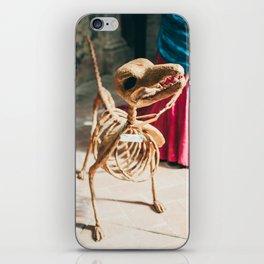 Skeleton dog iPhone Skin