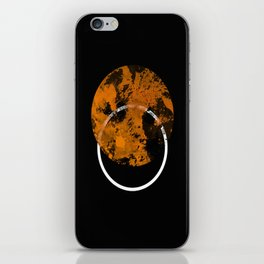 Collusion - Abstract in black, gold and white iPhone Skin