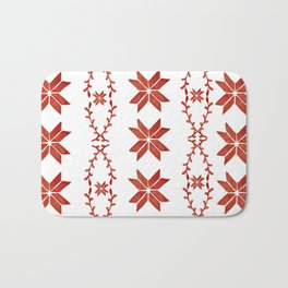 Scandinavian inspired print with red mini stars Bath Mat