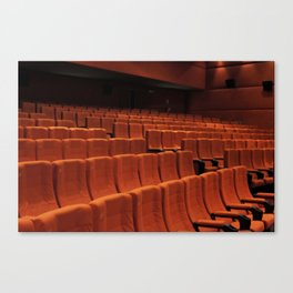 Cinema theater stage seats Canvas Print