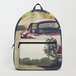 Triumph spitfire, classic english sports car, hasselblad photo Backpack