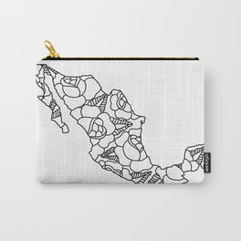 Mexico Map Black Outline Carry-All Pouch