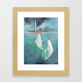She's on a journey to find herself Framed Art Print