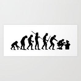 Computer Evolution Art Print