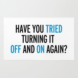 Off And On Again Funny Quote Rug
