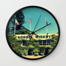 Korbel Winery Wall Clock