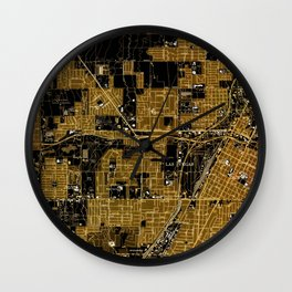 Las Vegas old map year 1967 Wall Clock