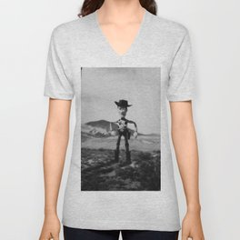 The Good The Bad and The Woody Unisex V-Neck
