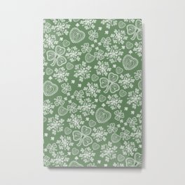 Irish Lace Metal Print