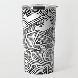 Graffiti in Black and White Travel Mug