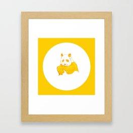 Golden panda Framed Art Print