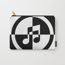 Black and White Music Note Carry-All Pouch