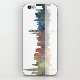 Chicago Skyline 1 BW1 iPhone Skin
