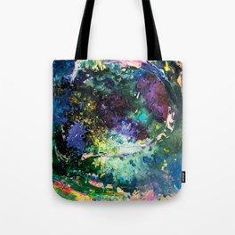 Malachite Cosmos Tote Bag