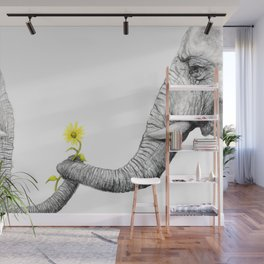 """Up Close You Are More Wrinkly Than I Remembered"" Wall Mural"