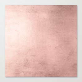 Blush Rose Gold Ombre Canvas Print