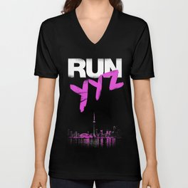 RUN YYZ Unisex V-Neck