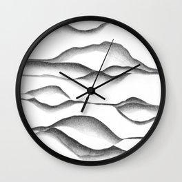 Foggy Hills Wall Clock