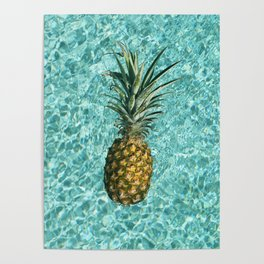 Pineapple Swimming Poster