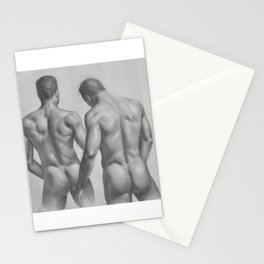 2 men Stationery Cards