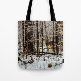 Deer in the Glistening Forest by Teresa Thompson Tote Bag