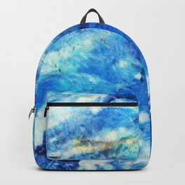 Blue and gold marble texture Backpack