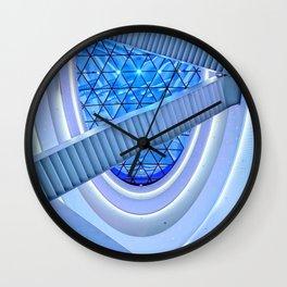 Blue Escalator Art Wall Clock