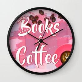 Books & Coffee Wall Clock
