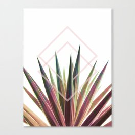 Tropical Desire - Foliage and geometry Canvas Print