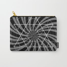 Metatron's Cube Grayscale Spiral of Light Carry-All Pouch