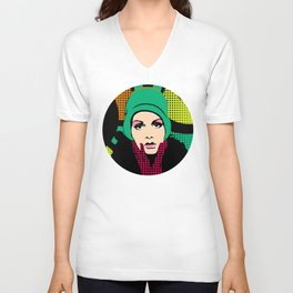 """Twiggy Pop Color"" Unisex V-Neck"