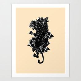 Panther Tattoo Flash Art Print