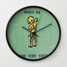 When We Were Very Young Wall Clock