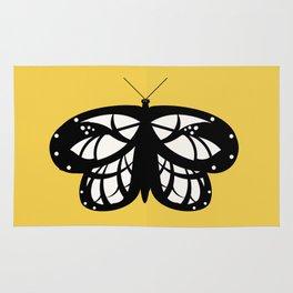 Les Papillons (Yellow) Rug